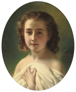 Hermann Winterhalter - Little Darling, c. 1850s